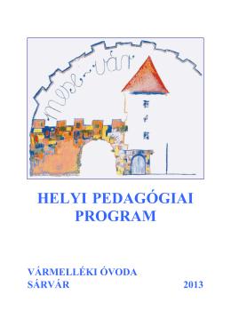 Pedagógiai programunk - Vármelléki Óvoda Sárvár