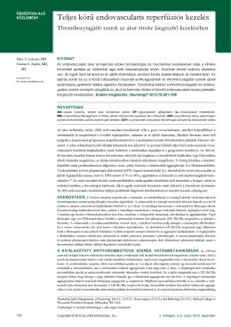 Teljes körű endovascularis reperfúziós kezelés