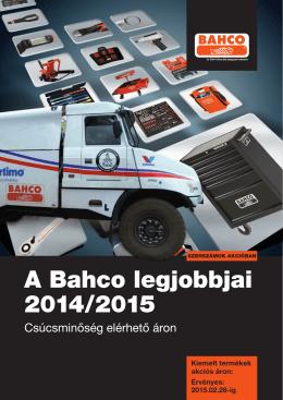 Magyarnyelvű BAHCO katalógus és árlista (pdf)