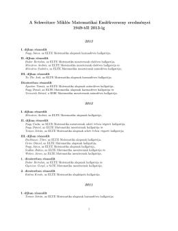itt - Bolyai János Matematikai Társulat