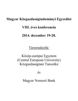 Részletes program 2014.pdf - Magyar Közgazdaságtudományi