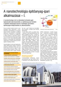 A nanotechnológia építőanyag