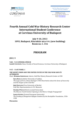 The program of the Fourth Annual Cold War History Research
