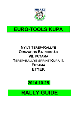 RALLY GUIDE - Terep