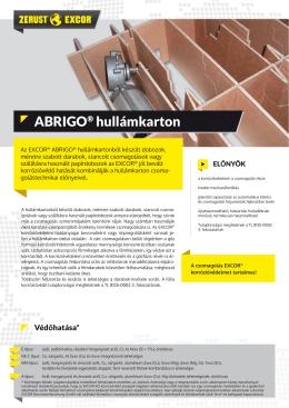 ABRIGO hullámpapír - VCI korrózióvédelem