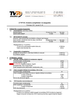 A TVP jelenlegi hivatalos árlistája (pdf formátumban)