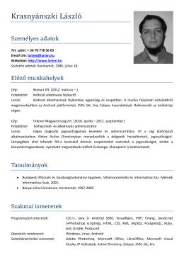 - Krasnyánszki László