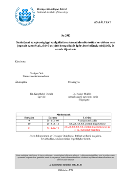 Térítési szabályzat2 - Országos Onkológiai Intézet