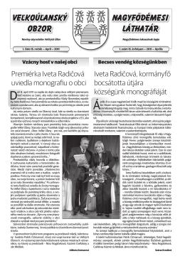 Veľkoúľanský obzor 2011 / 1. číslo