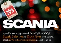 Karácsonyi Scania Selection és Truck Gear akció