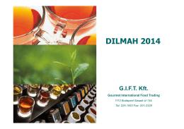 Dilmah - termékkatalógus 1.6 MB