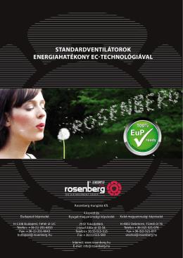 standardventilátorok energiahatékony ec-technológiával