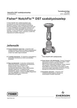 Fisherr NotchFlo™ DST szabályzószelep