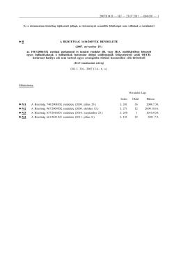 B A BIZOTTSÁG 1418/2007/EK RENDELETE (2007. november 29