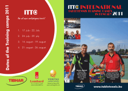 International Table-Tennis Training Camps In Hungary