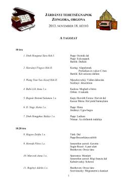 járdányi tehetségnapok zongora, orgona