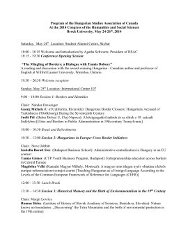 Final Conference 2014 Program