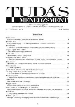 2. szám [2014. október] - PTE Felnőttképzési és Emberi Erőforrás