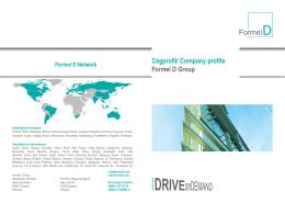 Cégprofil/ Company profile Formel D Group