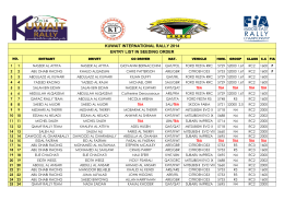 KUWAIT INTERNATIONAL RALLY 2014 ENTRY LIST IN