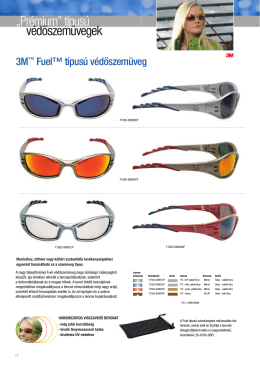 """""""Prémium"""" típusú védőszemüvegek"""