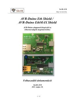 AVR-Duino Eth Shield / AVR-Duino EthMAX Shield - Tavir-AVR