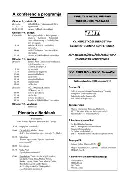 Program és informaciók - SzámOkt