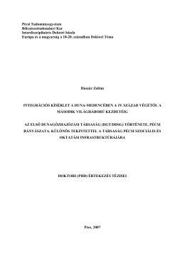 Pécsi Tudományegyetem - Az Interdiszciplináris Doktori Iskola