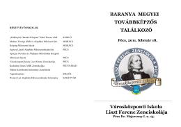 RÉSZTVEVŐ ISKOLÁK - Liszt Ferenc Zeneiskola