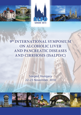 9th InternatIonal SympoSIum on alcoholIc lIver and pancreatIc
