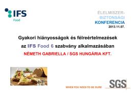Gyakori hiányosságok és félreértelmezések az IFS Food 6 szabvány