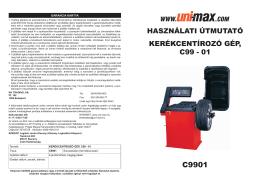használati útmutató kerékcentírozó gép, c99 - 01 - Uni-Max