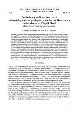Preliminary radiocarbon dated paleontological and geological data