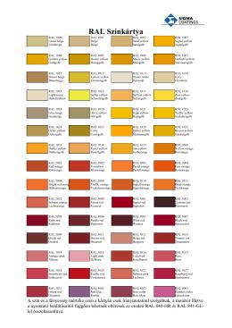 RAL Színkártya - Color Service Kft.