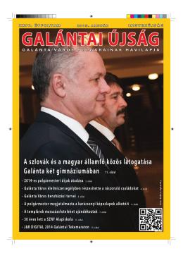 A Galántai Honismereti Múzeum új szárnyának ünnepélyes átadása