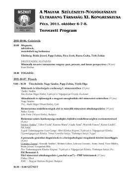 Tervezett Program - Congress & Hobby Service