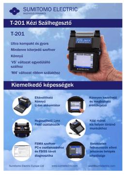 T-201 szálhegesztő brossúra (magyar nyelven)