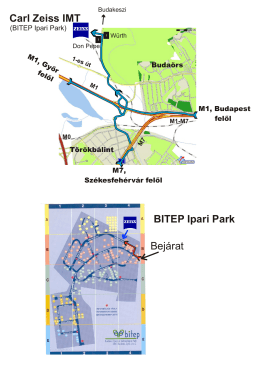Carl Zeiss IMT Bejárat BITEP Ipari Park