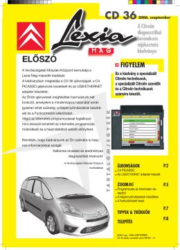 cd 36 előszó - Citroën Service