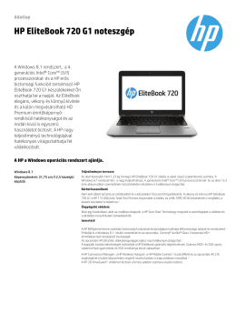 HP EliteBook 720 G1 noteszgép