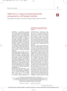 Adherencia a magyar posztmenopauzális