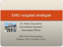 EMG vizsgálati stratégiák