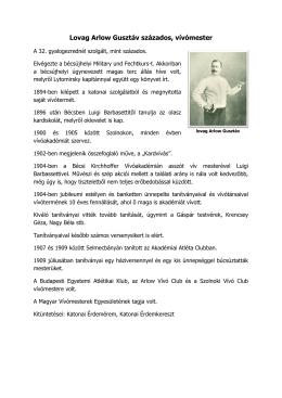 Lovag Arlow Gusztáv százados, vívómester