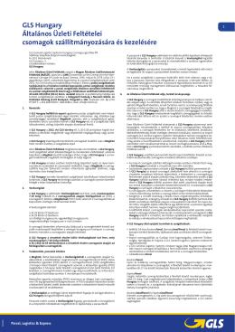 GLS Általános üzleti feltételek - West