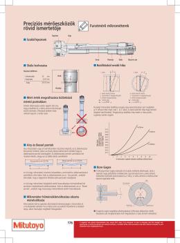 Furatmérő mikrométerek