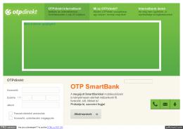 OTP Bank - OTPdirekt belépés