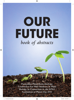 Our future book of abstracts