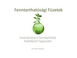 Fenntarthatósági Füzetek - Innovációval a Fenntartható Fejlődésért