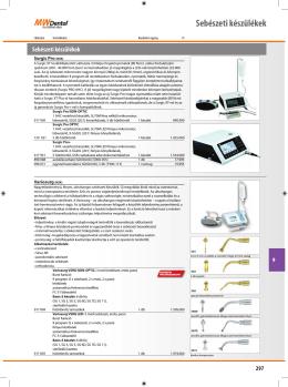 Sebészeti készülékek