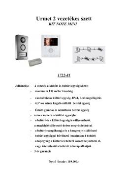 Urmet Kit Note Mini 1722-81